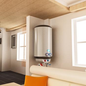 chauffe-eau fixé sur le mur d'une pièce